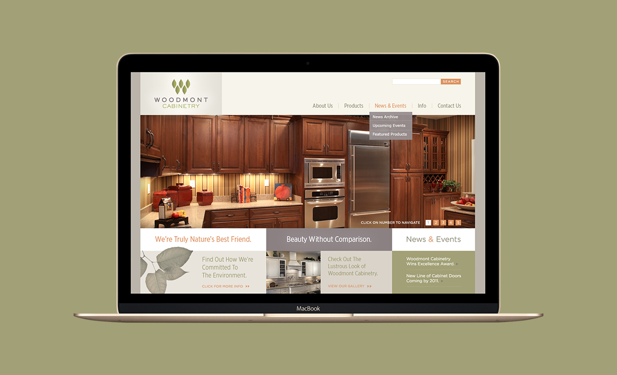 Woodmont Cabinetry Website